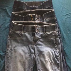 Bundle of apt 9 jeans
